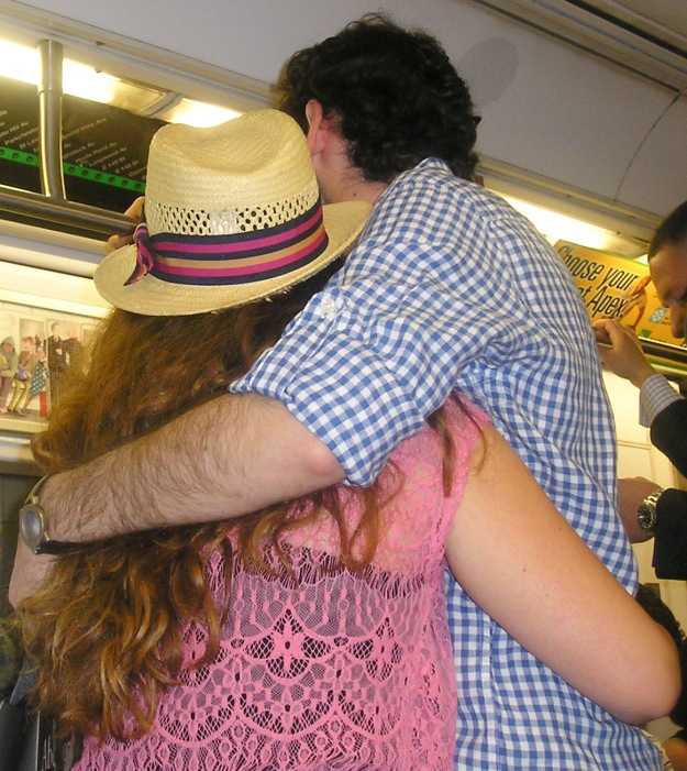 Subway embrace