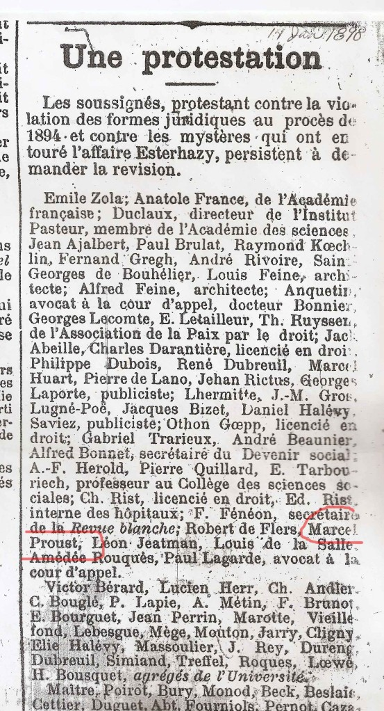Manifesto of the Intellectuals.  L'Aurore, January 14, 1898